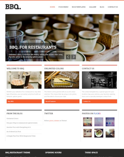 Responsive Restaurant WordPress Theme - BBQ