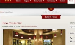 Responsive Restaurant Wordpress Theme - The Restaurant