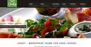 Responsive Restaurant Wordpress Theme - Cooky
