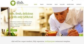 Responsive Restaurant Cafe Wordpress Theme - Dish