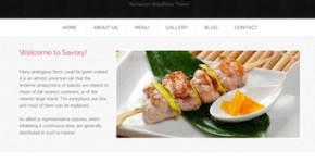 Responsive Restaurant Template - Savory